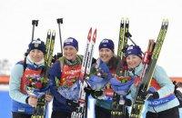 Женская сборная Украины по биатлону стала третьей в эстафете на чемпионате мира