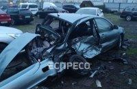 Пьяный водитель разбил четыре автомобиля на автостоянке в Киеве