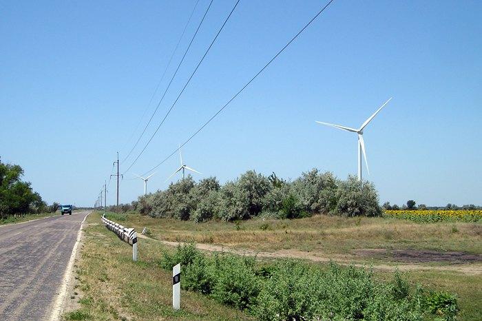 Вітроелектростанція в Херсонській області