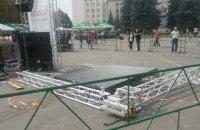 В Умані на концерті з нагоди Дня Незалежності на дітей упало сценічне обладнання