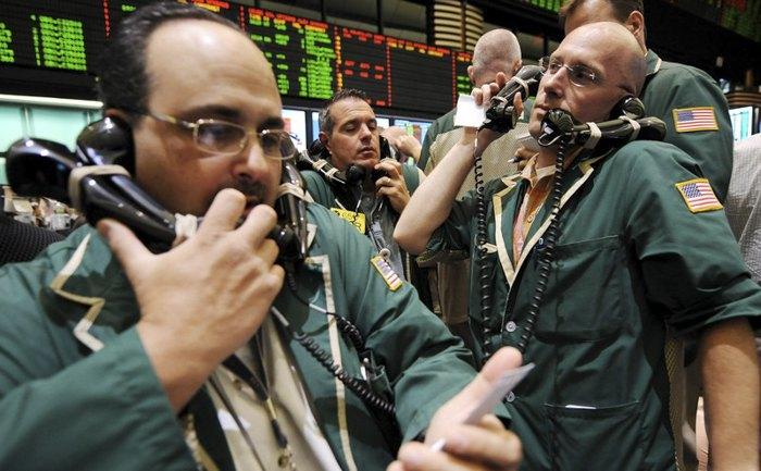 Трейдеры на нью-йоркской товарной бирже, США