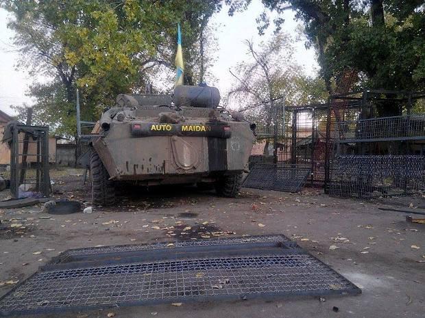 Защиту на БТР устанавливали на передовой в районе Артемовска