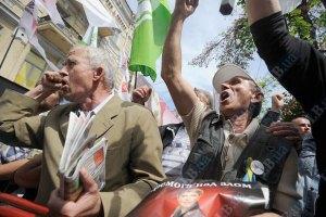 """Беркут"" блокирует митингующим проход к Раде"