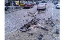В Киеве на Прорезной произошел взрыв