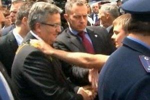 Обидчика Коморовского отпустили в день задержания