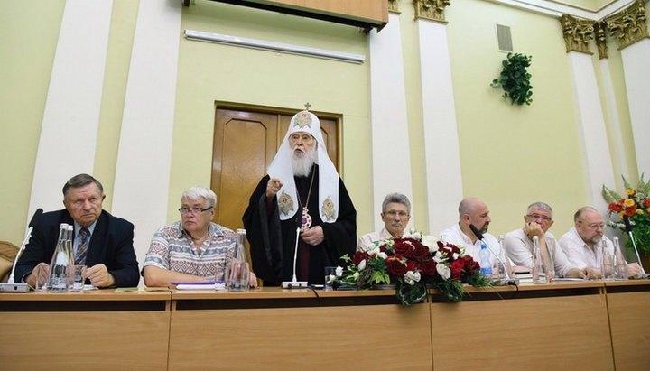 Патриарх Филарет выступает на форуме «За Украинскую Православную Церковь! За Киевский Патриархат! За Украину!», 14 июня 2019
