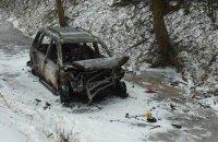 В Хмельницкой области в результате ДТП сгорел автомобиль, погибли два человека