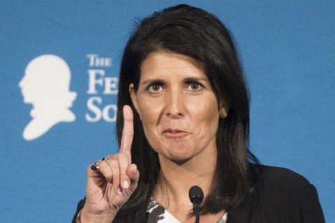"""Новий постпред США в ООН пообіцяла """"продемонструвати силу"""""""