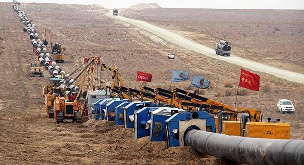 Строительство газопровода из Туркменистана в Китай