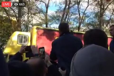 Поліція заблокувала автомобіль зі звуком на вічі Саакашвілі (оновлено)