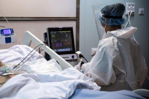 У Києві та п'яти областях ліжка для пацієнтів з COVID-19 заповнено більш ніж на 70%