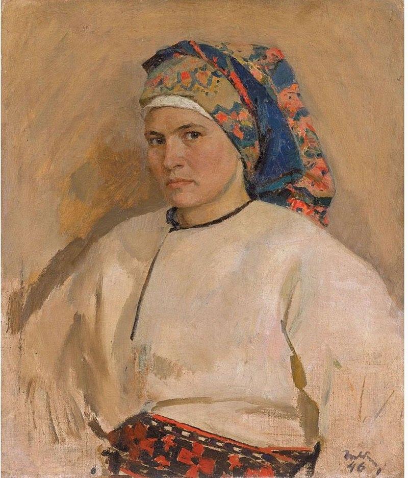 Тетяна Яблонська, автопортрет. 1946. Зібрання NAMU