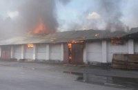 На Жмеринском элеваторе загорелся склад кукурузы, к тушению огня привлекли пожарный поезд