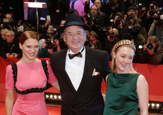 Леа Сейду(слева), Билл Мюррей и Сирша Ронан