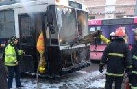 У центрі Чернівців загорівся тролейбус з пасажирами всередині