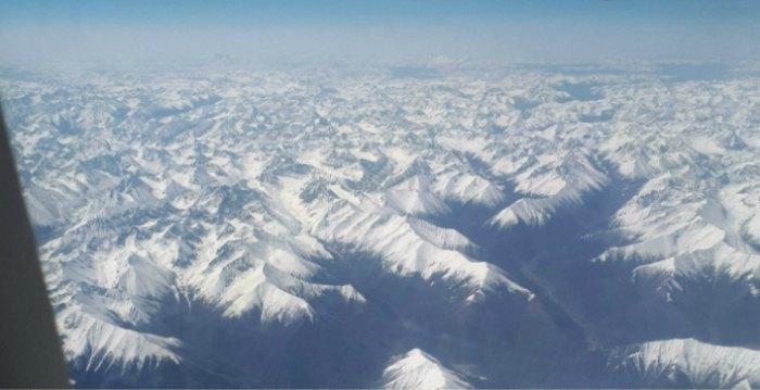 Вид на Тибет с самолета