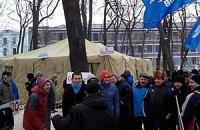 Антимайдановцы возвращаются в Мариинский парк