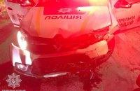 У Львові п'яний водій, втікаючи від патрульних, протаранив поліцейський автомобіль. Троє постраждалих