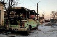 В Одеській області згорів автобус Нацгвардії