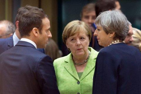 """Мей, Макрон і Меркель обговорили нові пункти для """"ядерної угоди"""" з Іраном"""
