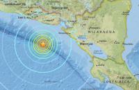Мощное землетрясение произошло в Центральной Америке