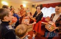 Національна опера України привітала дітей ветеранів АТО з Новим роком