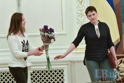 Віра Савченко дає свідчення в СБУ