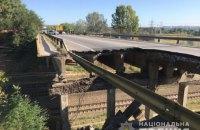 В Харькове рухнул автомобильный мост