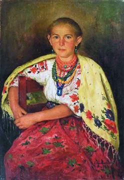 Українка. 1931. Полотно, олія. 55х79,5