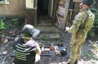 У сховку на Донеччині виявили понад 2 тис. набоїв, гранати і тротилові шашки