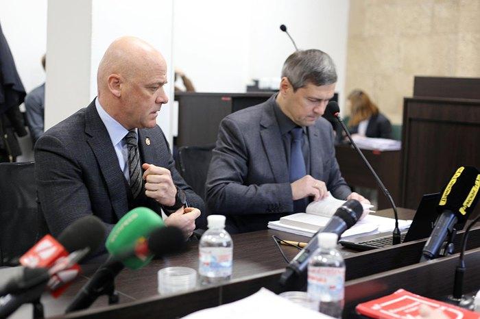 Геннадій Труханов та його захисник Олександр Лисак