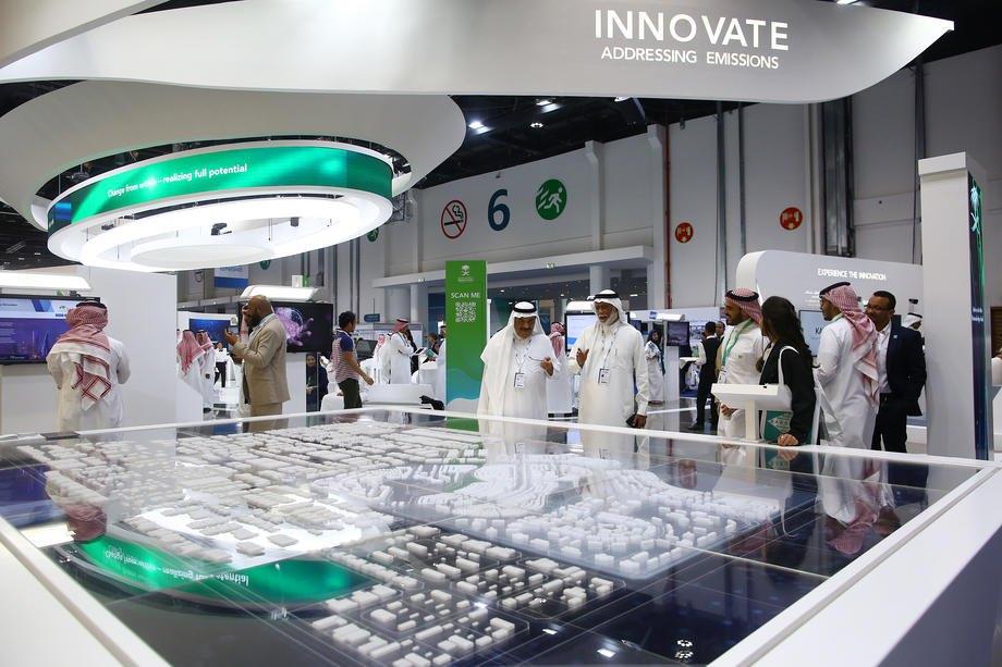 Выставка в рамках 24-го Всемирного энергетического конгресса (WEC) в Абу-Даби, Объединенные Арабские Эмираты, 9 сентября 2019 г.