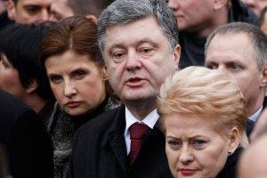Порошенко обговорив з Грібаускайте створення російськомовного каналу ЄС