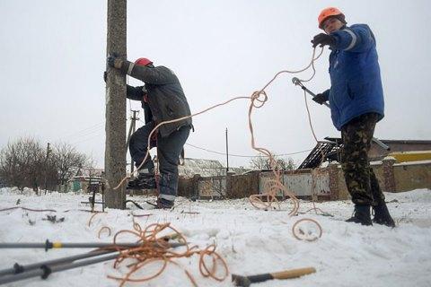У Луганській і Донецькій областях через негоду знеструмлено 4 населені пункти