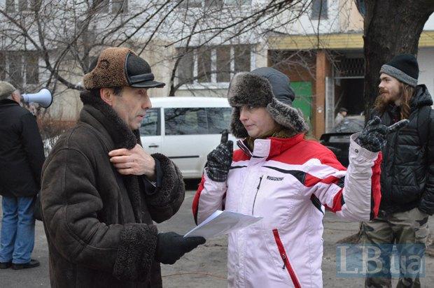 Ольга Гранцева с активистом