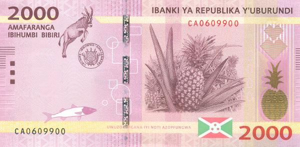 2 000 бурундийских франков