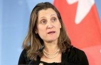 Голова МЗС Канади Христя Фріланд скасувала візит в Україну