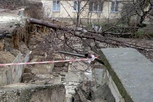 В Севастополе произошло обрушение жилых домов