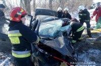 На трасі біля Рівного через зіткнення Porsche Cayenne і Daewoo Sens загинули три людини