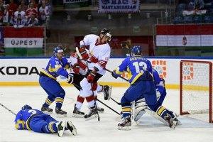 Украина, ведя в две шайбы, уступила Венгрии на ЧМ