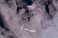 Крупнейший в мире айсберг угрожает популяции пингвинов и тюленей