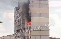 В Киеве произошел пожар в доме по соседству со взорвавшимся