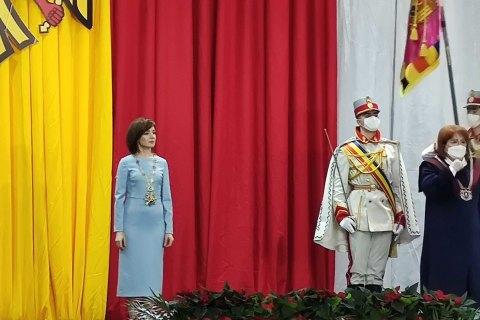 В Кишиневе проходит инаугурация президента Молдовы Санду
