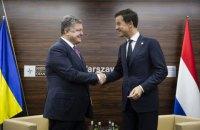 Порошенко провел переговоры с лидерами Нидерландов и Италии