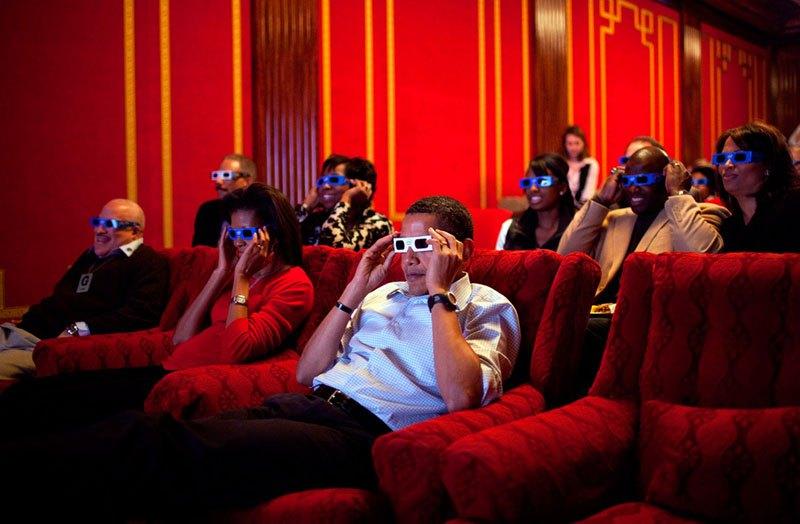 В кинотеатре Белого дома. 1 февраля 2009 года