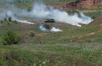 В зоне АТО прошли учения артиллеристов ВСУ