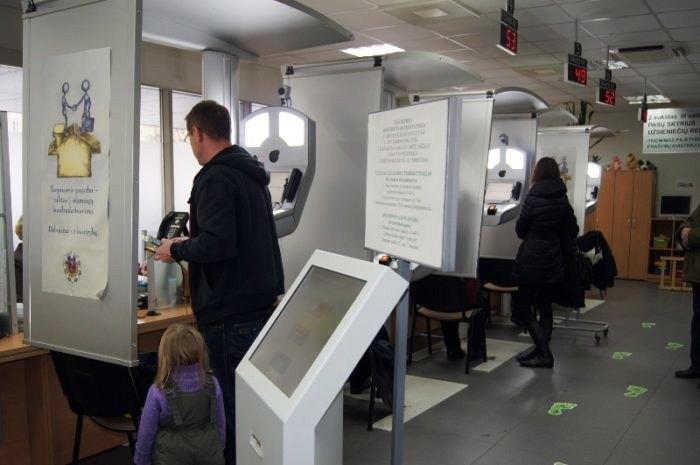 Прийом відвідувачів в Департаменті міграції у Вільнюсі