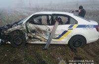 У Херсонській області п'яний поліцейський на Mitsubishi врізався в авто патрульних