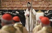 Папа Франциск проводить Великодню месу