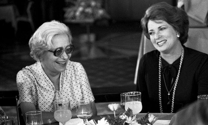 С женой президента Египта, Хайфа, 1979.